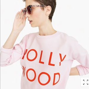 J. Crew Hollywood pale pink sweatshirt medium
